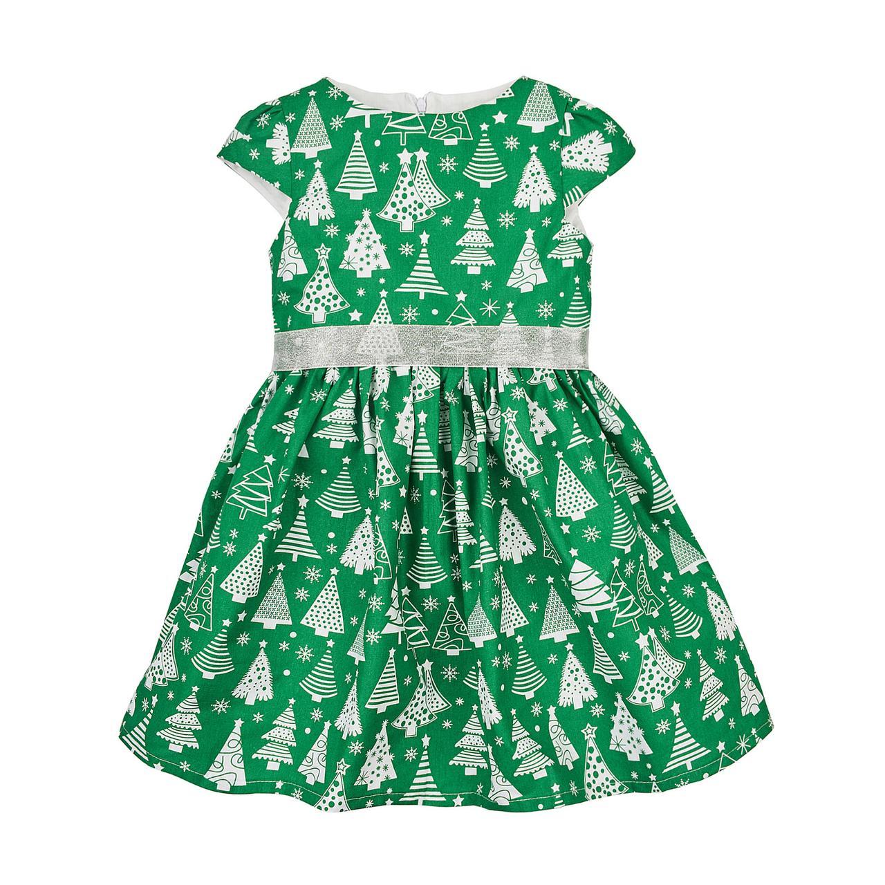 Платье новогоднее детское « Елка  короткий рукав»