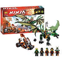 Конструктор Bela Ninja 10526 Зеленый дракон 603 детали