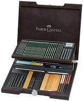 Подарочный Набор для графики Faber Castell PITT MONOCHROME, 86 ПРЕДМЕТОВ В ДЕРЕВЯННОЙ КОРОБКЕ (112971)