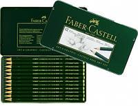 Набор графитных карандашей Faber Castell 9000 12ШТ 2Н-8В В МЕТАЛЛ.КОРОБКЕ (119065)