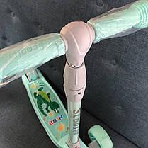 Трехколесный самокат детский Scooter Smart - Pastel - Мятный / Складная ручка, фото 3