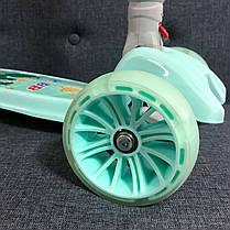 Трехколесный самокат детский Scooter Smart - Pastel - Мятный / Складная ручка, фото 2