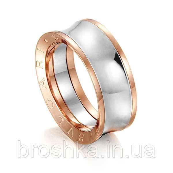 Литые кольца Bvlgari с белой и розовой позолотой