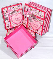 Яскраві подарункові коробки Прованс набір 3шт 20х20х10 см