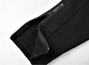 Теплые спортивные черные штаны с начесом, фото 2