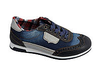 Текстильные кроссовки 73DJEANS р. 28,29, 30, 33, 35 Синий джинс