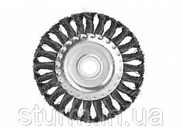 Щетка для УШМ (180мм радиал.стальн.витая пров.) Sturm 9017-03-WB180