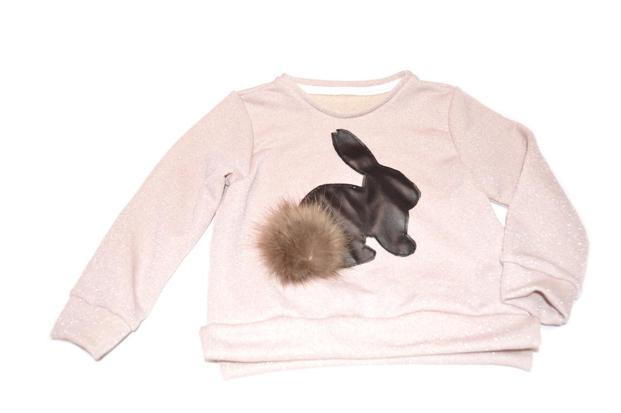 Свитшот «Кролики» розовый