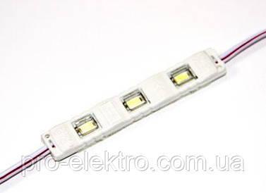 Светодиодные модули (smd5730 3шт, 75мм) MTK-5730-1W, IP67 Белый