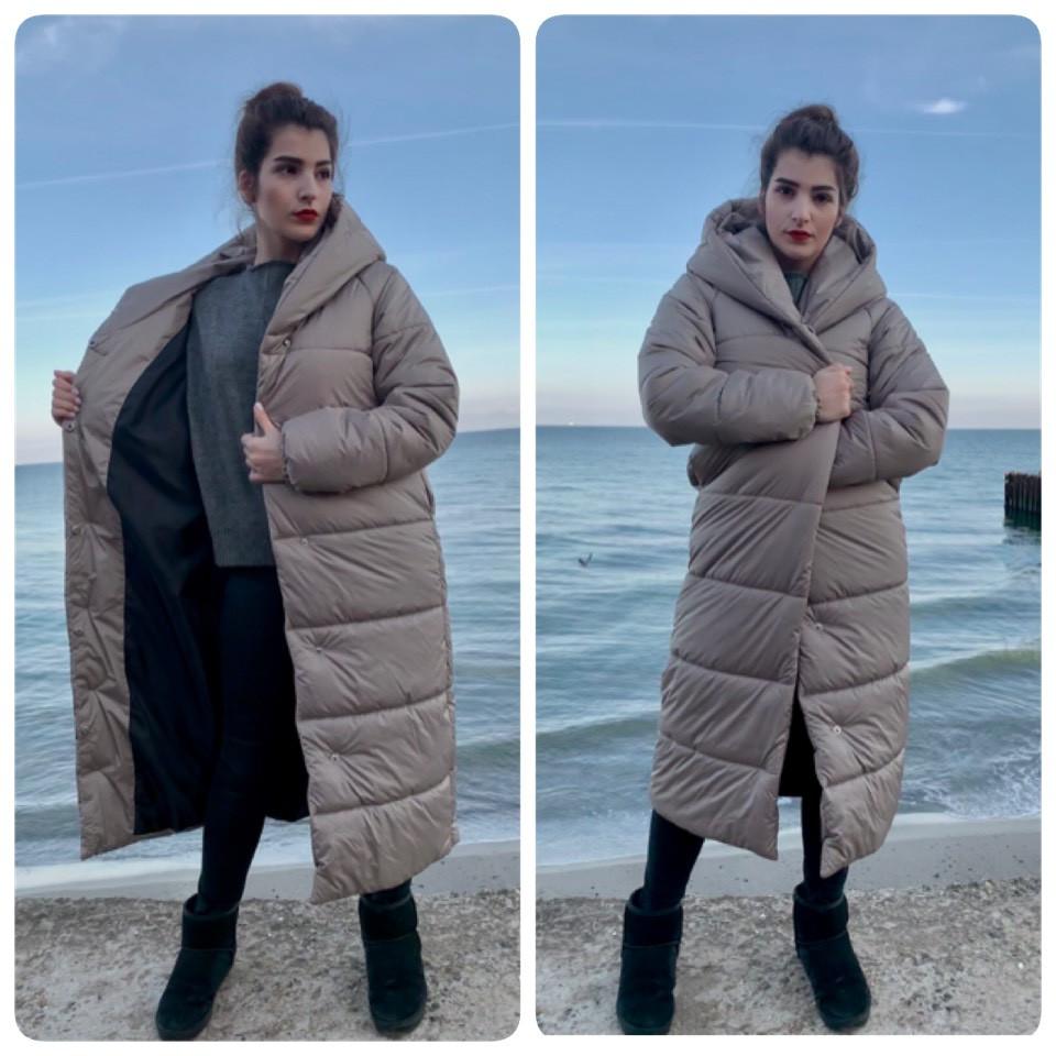 Пальто зима, артикул 521, цвет беж