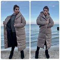Пальто зима, артикул 521, цвет беж, фото 1
