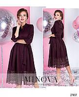 Платье-рубашка с кружевом макраме  в красивых расцветках  4044/1, фото 1