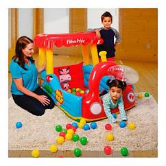 """Детский надувной игровой центр """"Паровоз Fisher Price"""" с шариками BestWay 93503"""
