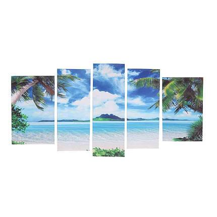 5Pcs Unframed Canvas Paint Seascape Пляжный Картины Современный декор домашнего интерьера 1TopShop, фото 2