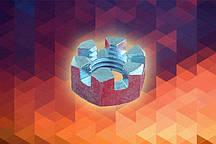 Гайка М10 ГОСТ 5919-73 прорезная и корончатая оцинкованная