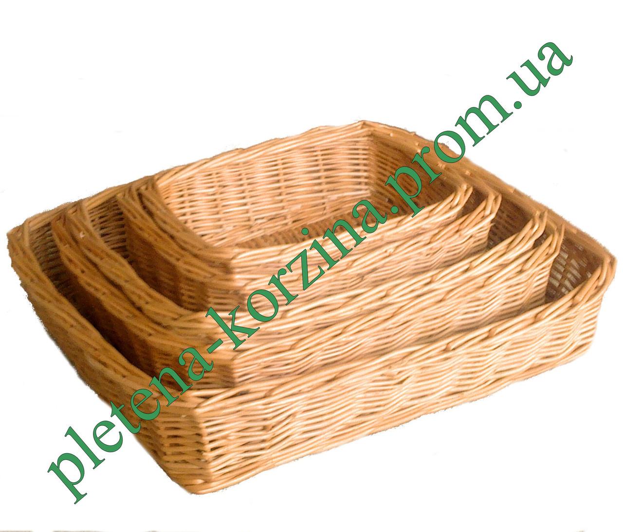 Набор плетеных подносов из 5шт. Арт.581-5