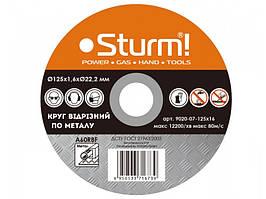 Круг отрезной по металлу Sturm 9020-07-125x16, 125x1.6x22