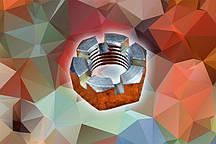 Гайка М6 ГОСТ 5919-73 прорезная и корончатая оцинкованная