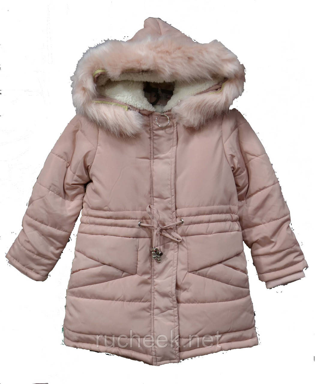 Детская зимняя куртка парка для девочек  р-ры 10, 12, 14 ТМ Lemon tree YY-2727