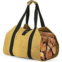 Деревянный каркас для перевозки древесины Инструмент Сумка Дрова для камина 16 унция Вощенное полотно 1TopShop