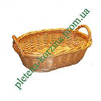 Подставка под хлеб с ручками плетеная из лозы Арт.622