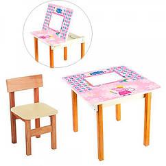 Столик с ящиком и стульчик, F09-4 Peppa Pig