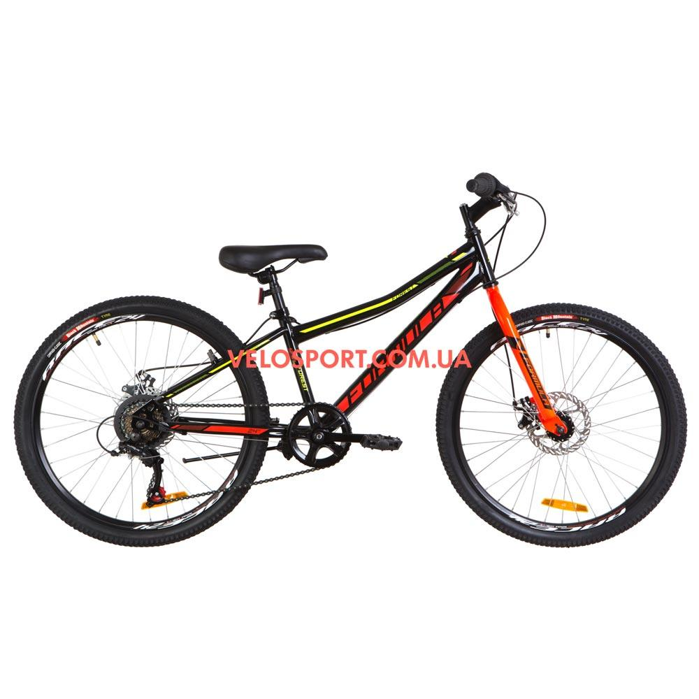 Подростковый велосипед Formula Forest DD 24 дюйма черно-красный с желтым
