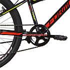 Подростковый велосипед Formula Forest DD 24 дюйма черно-красный с желтым, фото 5