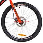 Подростковый велосипед Formula Forest DD 24 дюйма черно-красный с желтым, фото 2