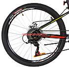 Подростковый велосипед Formula Forest DD 24 дюйма черно-красный с желтым, фото 4