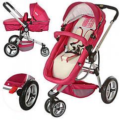 Детская коляска-трансформер 809-3, красн-беж