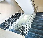 Перила алюминиевые круглые, цвет серебро с леерами, фото 3