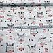 Польский хлопок бязь зайчики на качелях на белом отрез (размер 1,2*1,6 м), фото 4