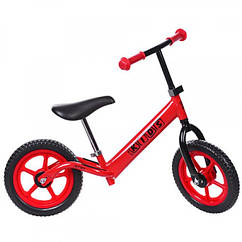 Детский двухколесный беговел Profi Kids 12 дюймов, M 3436-3 красный