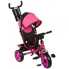 Трехколесный велосипед колясочного типа на EVA колесах (диаметр 11/9), Turbotrike M 3113-6 розовый