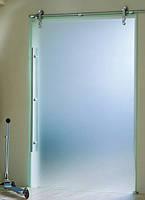 Дверь раздвижная 800 х 2100 мм из закаленного стекла матового 10 мм