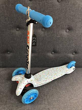 Трехколесный детский самокат 21Scooter - Mini Print - Единорог детский, фото 2