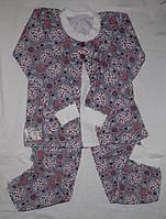 Пижама с начесом для девочки ростом 116 и 122 см