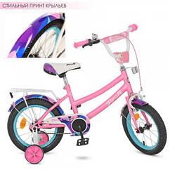 Детский двухколесный велосипед Geometry Profi 12 дюймов, Y12162 розовый матовый
