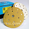 Q-Refinish Абразивный круг P60 Premium Gold Velcro, (150 мм, 15 отверстий)