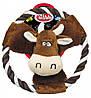 Игрушка для собак Коровка с веревкой Pet Nova 20 см