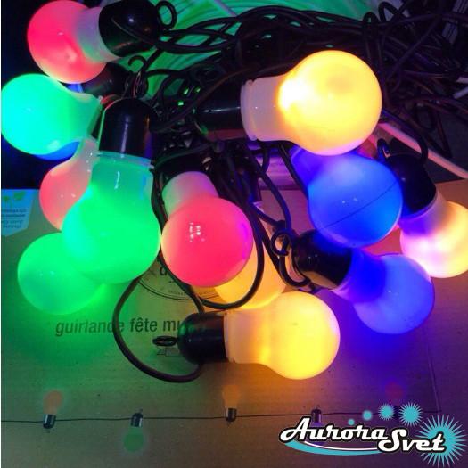 LED гирлянда ЛАМПОЧКИ 2,0 м на 10 светодиодов. Светодиодная гирлянда. Производство Франция., фото 1