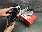 Зимние кроссовки Nike 97 (серебряные), фото 4