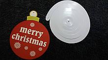 Новогодняя гирлянда - 1шт., размер шара 12см, картон, фольга
