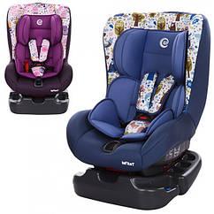 Детское автокресло группа 0+/1 (до 18кг) El Camino Infant, ME 1010-1 голубой, фиолетовый