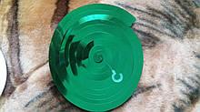 Новогодняя гирлянда вертушка зеленая - 1шт., длина будет около 70см, фольга