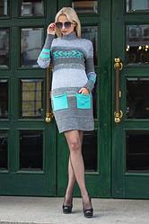 Платье теплая вязка - Мулине