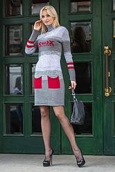 Длинные вязанные платья - Мулине