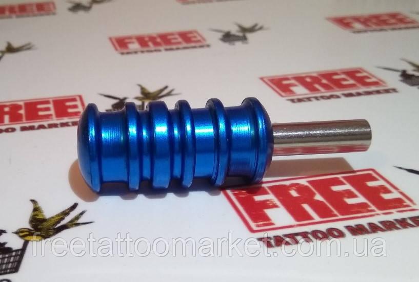 Трубка держатель алюминиевый 22мм (синий)