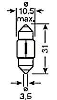 Светодиодная  лампа SLS LED с обманкой компьютера под цоколь SV8,5(C5W) 31mm 6-5630 Белый, фото 3